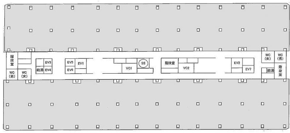 基準階平面図(ワンフロア)